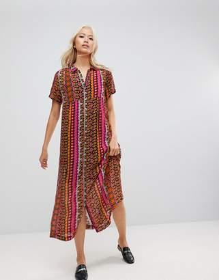 Maison Scotch Printed Maxi Shirt Dress