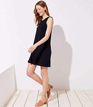 LOFT Petite Sleeveless Swing Dress