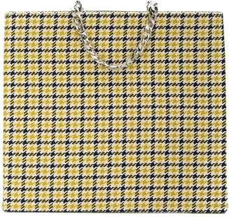 Victoria Beckham tweed shopping tote