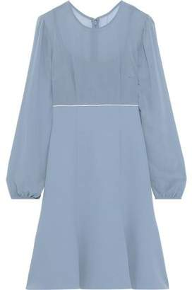 Mikael Aghal Flared Georgette And Cady Dress