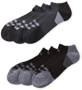 adidas 6-Pack No-Show Cushioned Socks