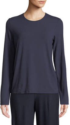Eileen Fisher Long-Sleeve Crewneck Tee, Plus Size