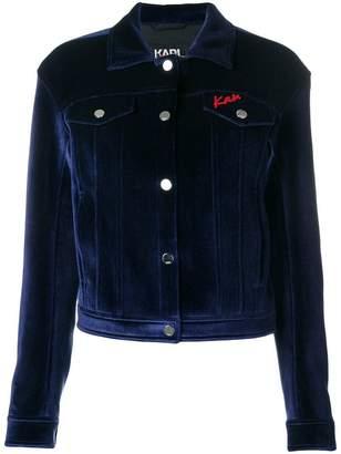 Karl Lagerfeld X Kaia Velvet Denim Jacket