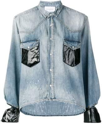 Gaelle Bonheur contrasting cuffs denim shirt