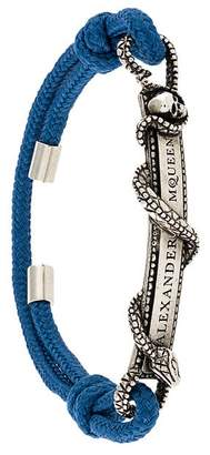 Alexander McQueen snake logo plaque bracelet