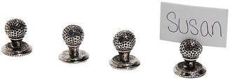Corbell Silver Company Inc. Set of 4 Golf Ball Place Card Holders