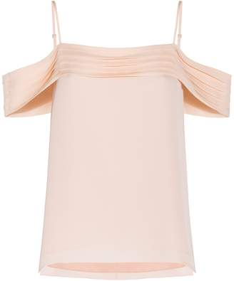 Alexander Wang Blush Pleated Offshoulder Top