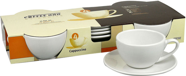 Konitz Set of 4 Cappucino Cups and Saucers