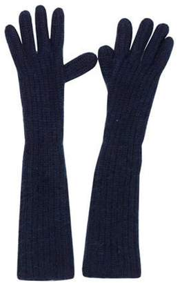 Acne Studios Knit Long Gloves Blue Knit Long Gloves