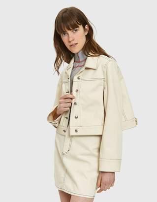 Eckhaus Latta Cropped Denim Jacket in Natural