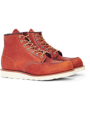 Red Wing Shoes 6-Inch Classic Moc Toe Leather Tan