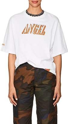 "Heron Preston Women's ""Angel"" Cotton T-Shirt"