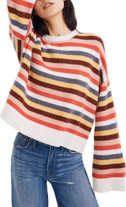 Madewell Cardiff Stripe Crewneck Sweater
