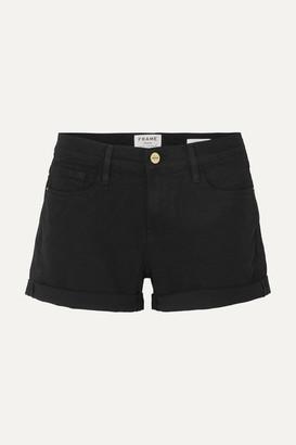 Frame Le Cutoff Denim Shorts - Black