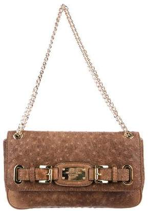 Michael Kors Distressed Chain-Link Purse W/ Wallet