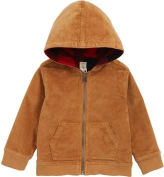 Tucker + Tate Reversible Corduroy/Plaid Hooded Jacket
