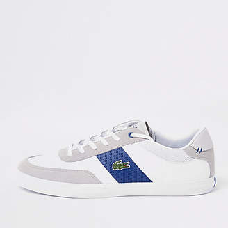 1bda80d2a4dec ... at River Island · Lacoste Grey court lace-up trainers better 11e32  ee72b ...