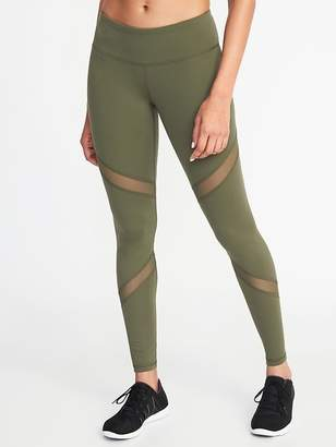 Old Navy Mid-Rise Mesh-Panel Compression Leggings for Women