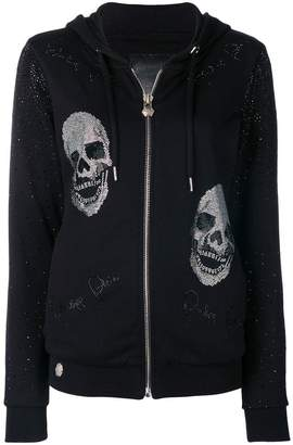 Philipp Plein I'm Still In Love zipped hoodie