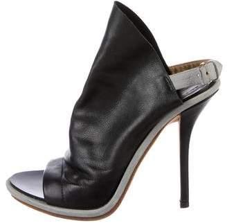 Balenciaga Leather Open-Toe Booties