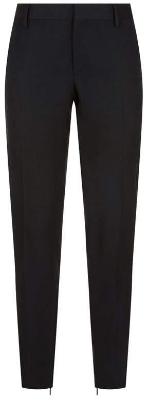 Black Satin Trim Trousers