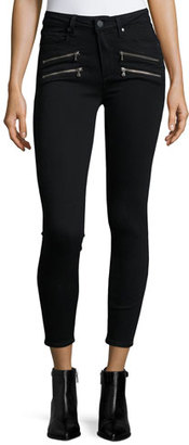 Paige Denim Edgemont Ultra-Skinny High-Rise Ankle Jeans, Black Shadow $229 thestylecure.com