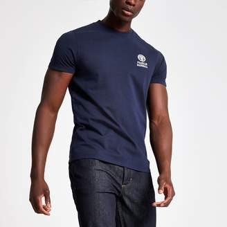 River Island Mens Franklin & Marshall Navy crew neck T-shirt