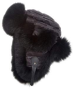 The Fur Salon Women's Fox Fur Trapper Hat