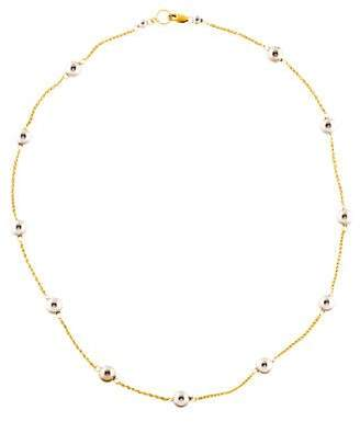 18K Two-Tone Station Necklace