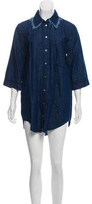 Raquel Allegra Chambray Shirt Dress
