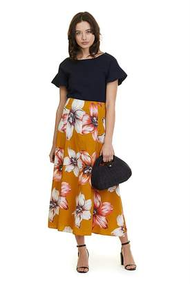 Country Road Lily Print Maxi Skirt