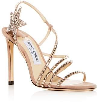 f91340a5561f Jimmy Choo Women s Lynn 100 Embellished Slingback High-Heel Sandals