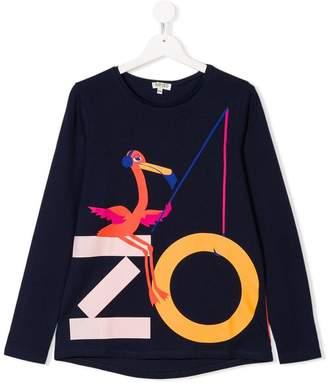 Kenzo flamingo logo print T-shirt