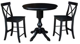 August Grove Suazo Extension Counter Height 3 Piece Pub Table Set August Grove