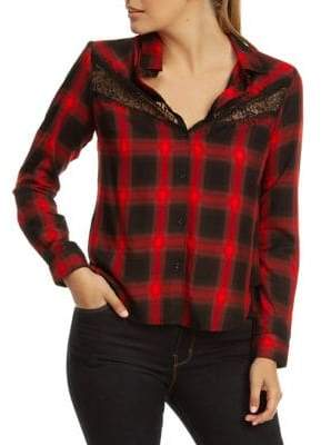 Dex Lace Insert Button-Down Shirt