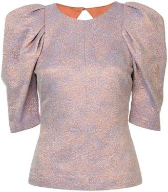 Ginger & Smart Cause and Effect jacquard top