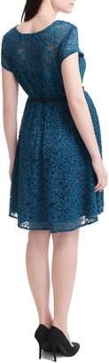 Kimi and Kai Lace Maternity Skater Dress