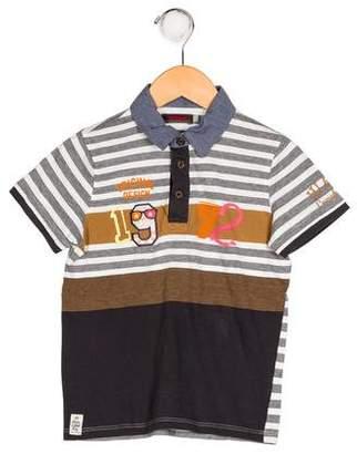 Catimini Boys' Appliqué Striped Shirt