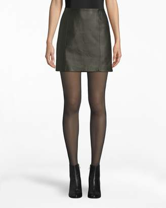 Nicole Miller Leather Mini Skirt