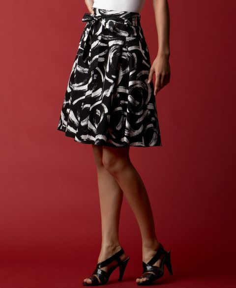 INC International Concepts ®  Printed Pleated Skirt