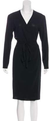 Max Mara Long Sleeve Midi Dress