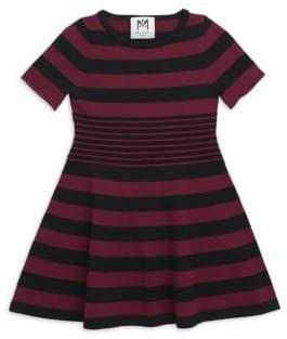 Milly Minis Toddler, Little& Big Girl's Stripe Textured Fit-&-Flare Dress