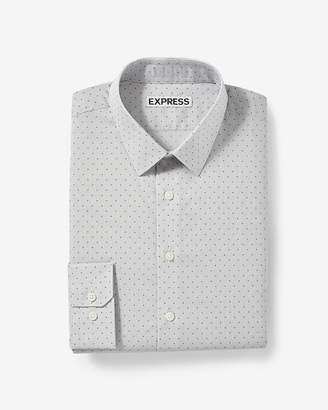Express Extra Slim Dotted Print Dress Shirt