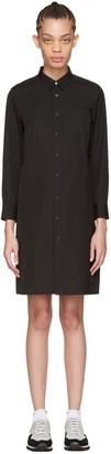 Tricot Comme des Garçons Black Poplin Shirt Dress $455 thestylecure.com
