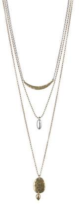 Lucky Brand Two-Tone Layered Pendant Necklace