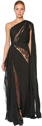 Elie Saab Long Silk Crepe Georgette Dress
