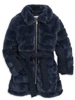 Chloé Little Girl's Mini Me Faux Fur Coat
