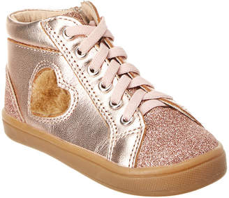 Old Soles Glam Heart Leather High Top Sneaker