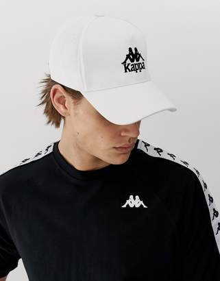 7689158edcbe9b Kappa Authentic Vigoleno cap with embroidered logo in white