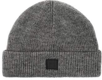 b35c3595126 Acne Studios Kansy Face Wool Blend Beanie Hat - Mens - Grey